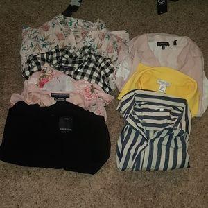 Bundle 7 blouses madewell, rachael zoe,cynthia